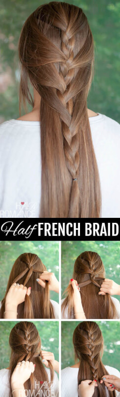 Sweeping Half French Autumn Hairstyle