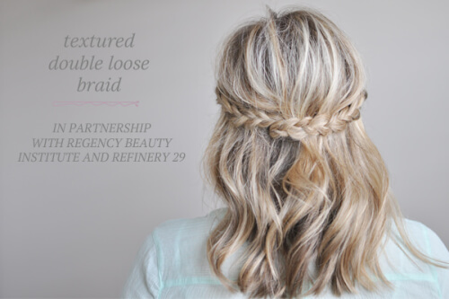 Double Loose Braid Autumn Hairstyle