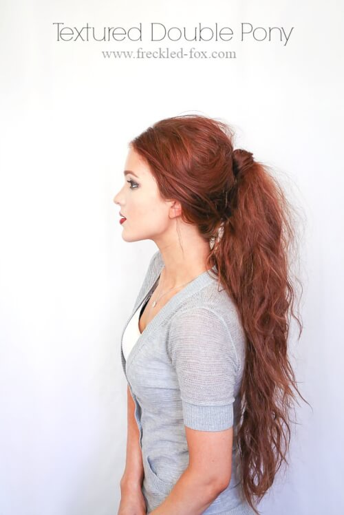 Textured Double Fall Ponytail