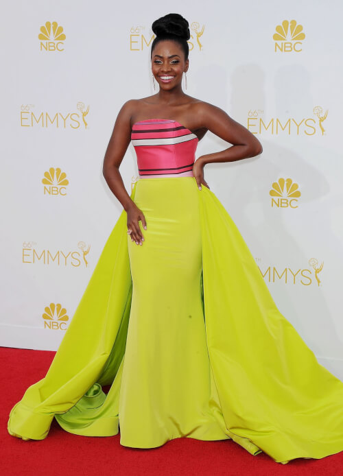 Teyonah Parris Easy Breezy Beautiful Bun Emmys