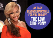 Beyonce Hair Tutorial - Low Side Pony