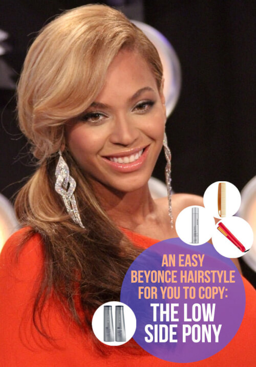 The Low Side Pony: A Beyonce Hair Tutorial