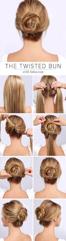 Twisted Bun Fall Hairstyle