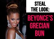 Beyonce Hairstyles - Grecian Bun Tutorial