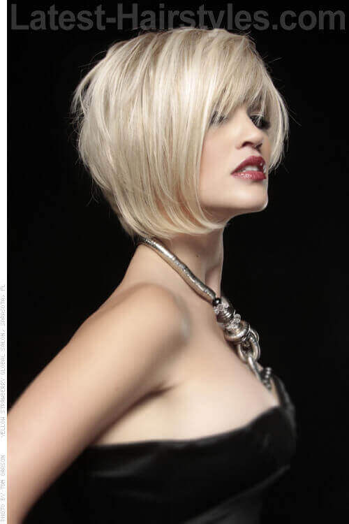 Blonde Bob with Fringe Side