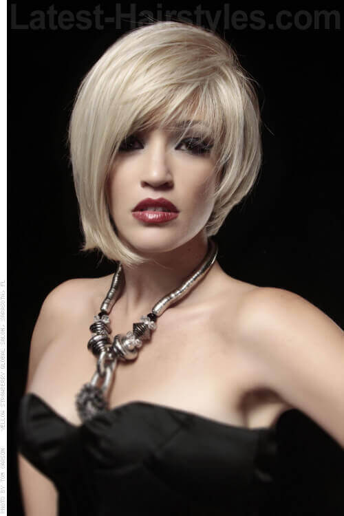 Blonde Bob with Fringe