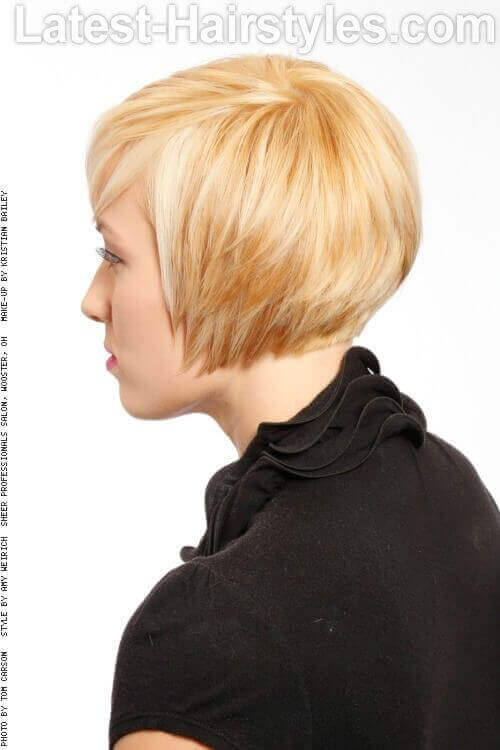 Bob Hairstyle with Layers Side