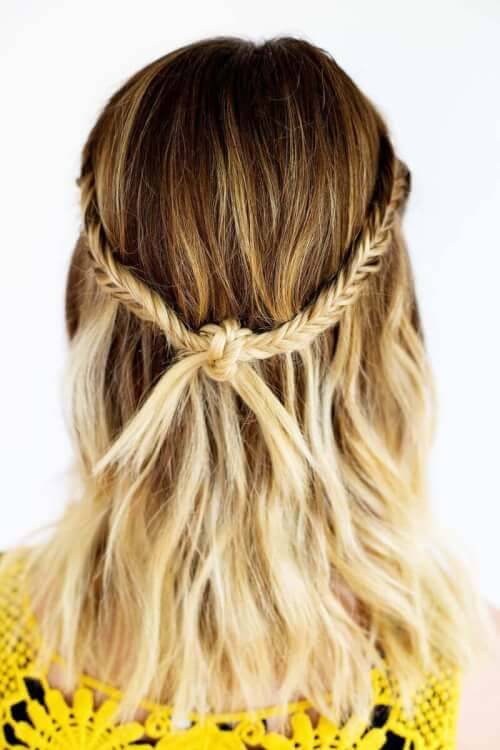 Bohemian Festival Knotted Hairstyle