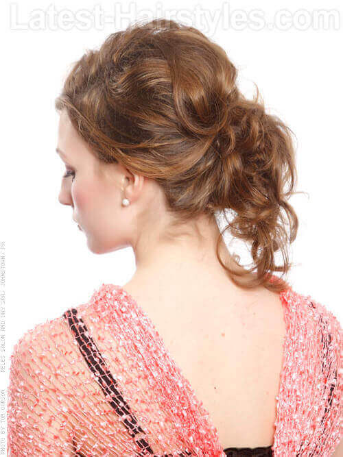 Casual Undone Hairstyle Back