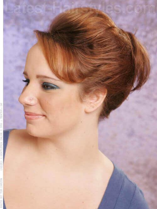 Copper Gold Haircolor Side