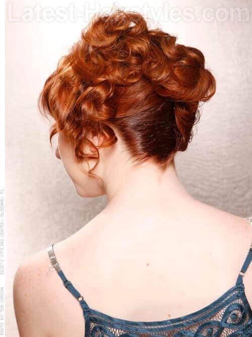 Copper Toned Haircolor Back