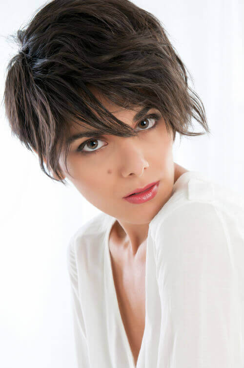 Cropped Haircut with Ombre Color