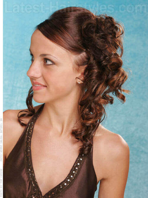 Curly Updo with Smooth Texture SIde