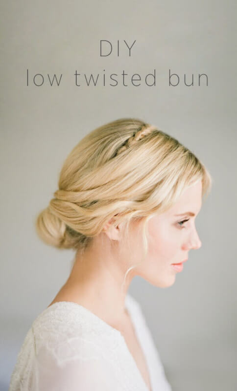 DIY Low Twisted Bun Tutorial