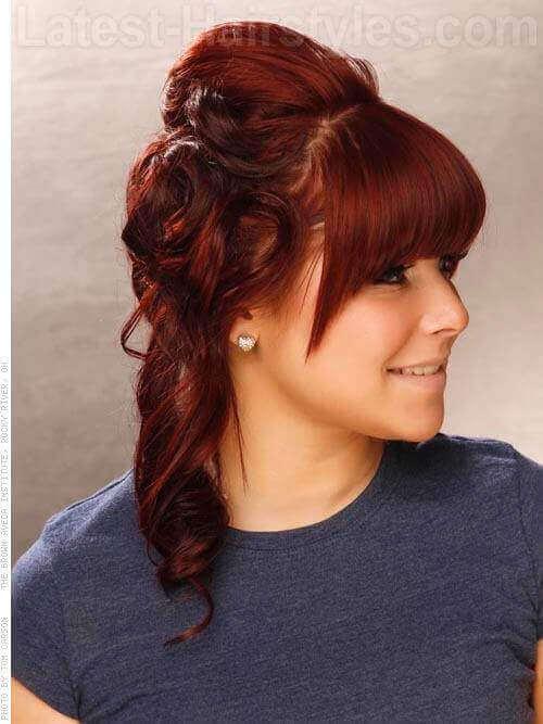 Dark Red Haircolor Side
