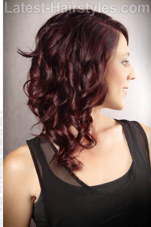 Deep Violet Haircolor Side