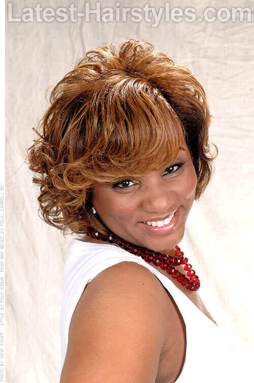 Fabulous Fridays Copper Bob Hairstyle For Black Women