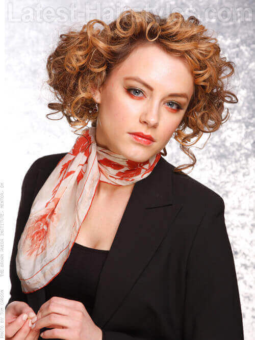 Faux Curly Bob Hairstyle Side
