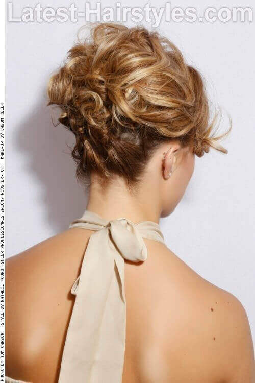 Formal Curly Updo Back