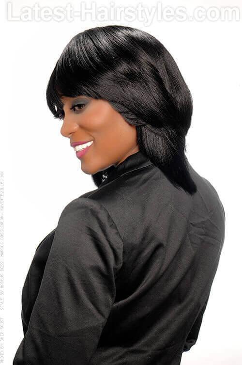 Fringed Bob Hairstyle Side