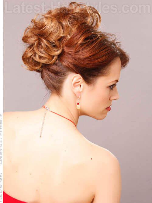 Golden Ombre Haircolor Side