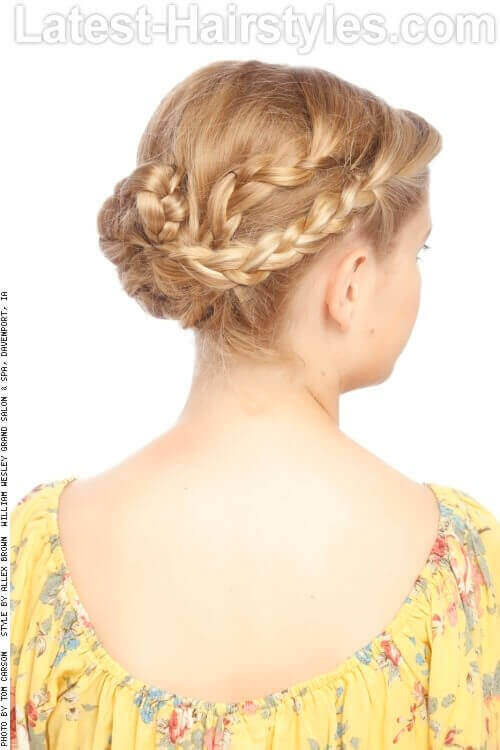 Grecian Braided Updo Back