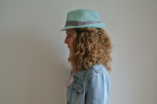 Curly Hair Hat Hairstyle