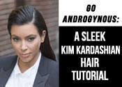The Slicked Back Kim Kardashian Hair Tutorial