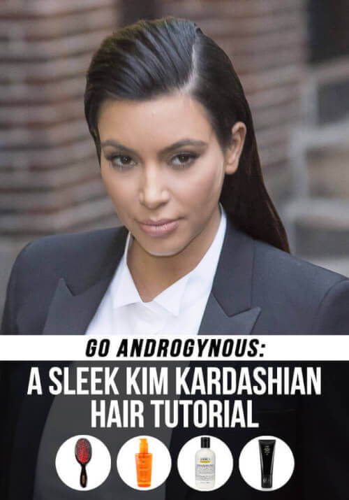 The Slicked Back Kim Kardashian Hairstyle Tutorial