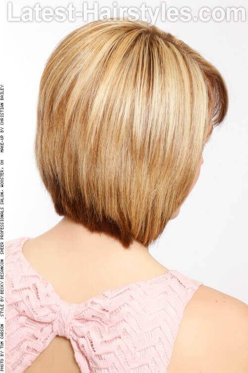Layered Bob with Bangs Back