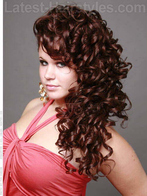 Long Curly Updo Side