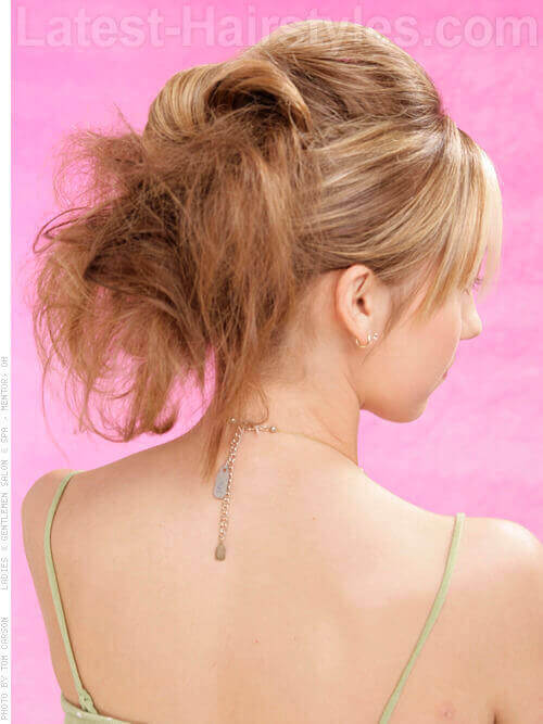 Messy Updo with Twist Back