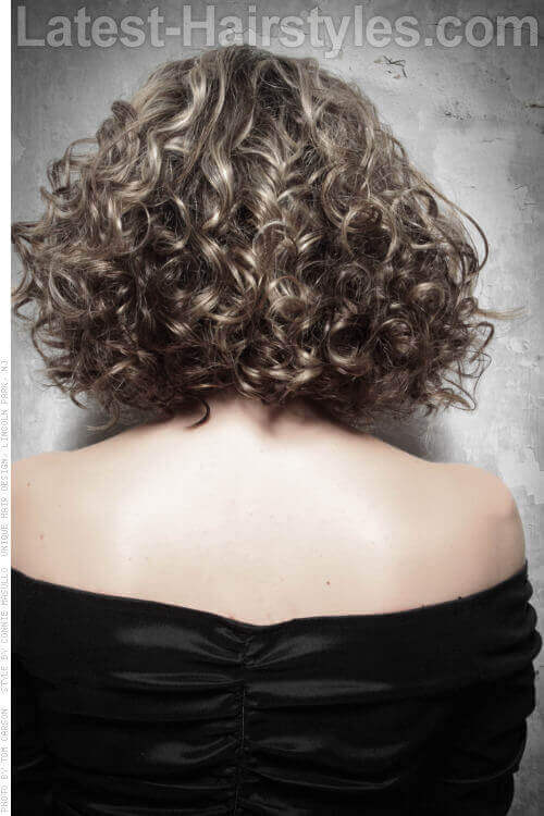 Naturally Curly Long Bob Back