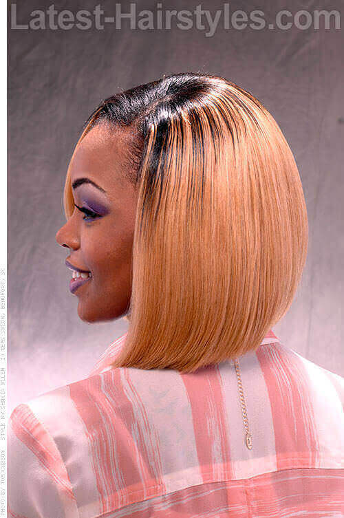 Ombre Bob Hairstyle Back