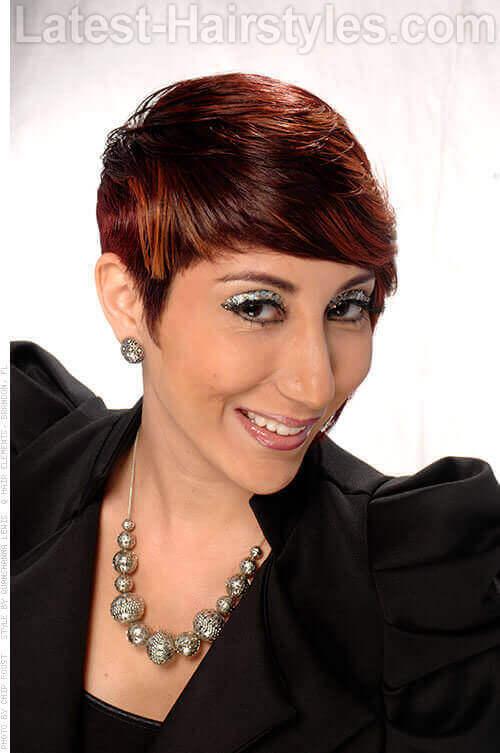 Ombre Haircolor on Short Asymmetric Haircut Side