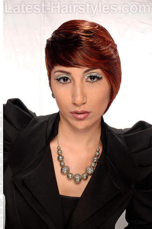 Ombre Haircolor on Short Asymmetric Haircut