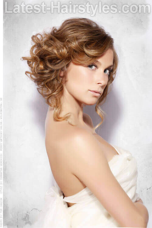 Pinned Up Curly Grecian Hairstyle