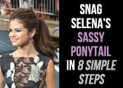 Selena Gomez Hairstyles - The Sassy Ponytail