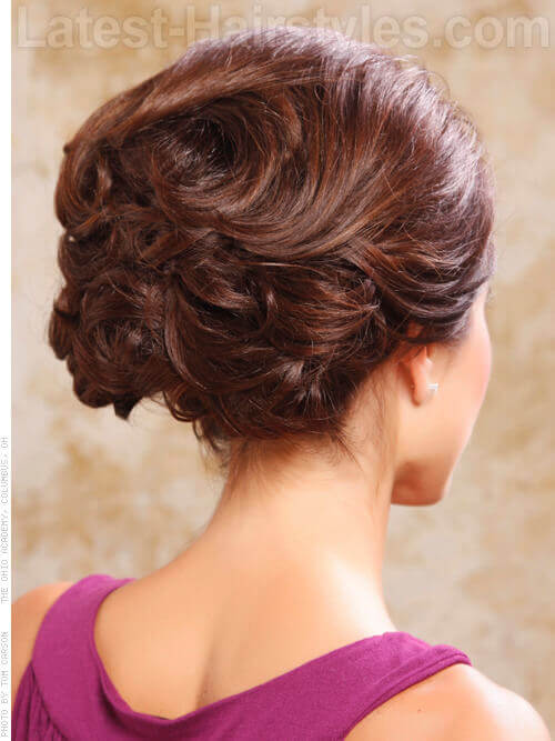 Sophisticated Messy Updo Back