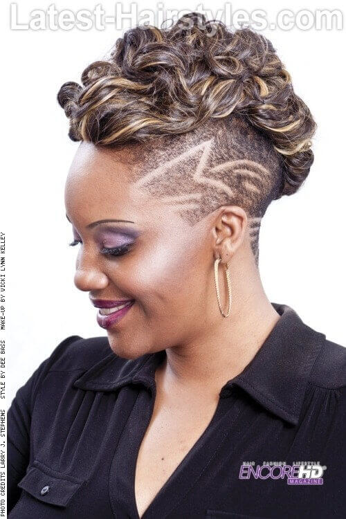 Funky Twisted Bun Short Hairstyle