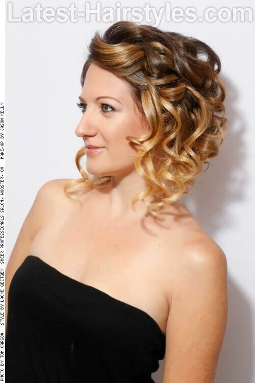 Sweet Simple Curly Updo