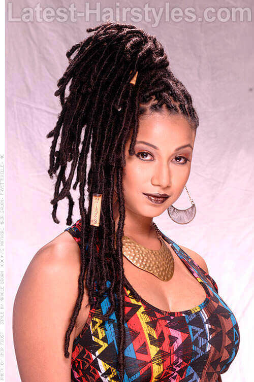 The sexiest messy updos youll see all day updo with dreadlocks side pmusecretfo Image collections