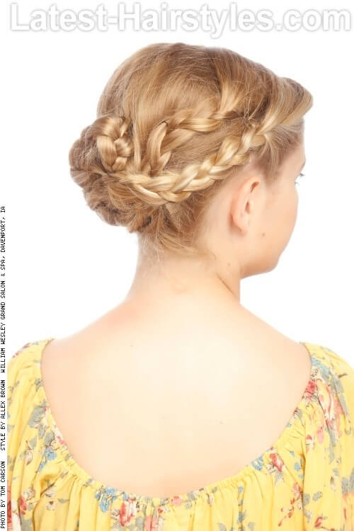 Braided Loose Updo Back