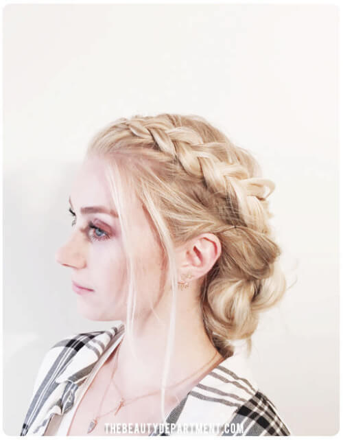 Braided Chignon Holiday Hairstyle