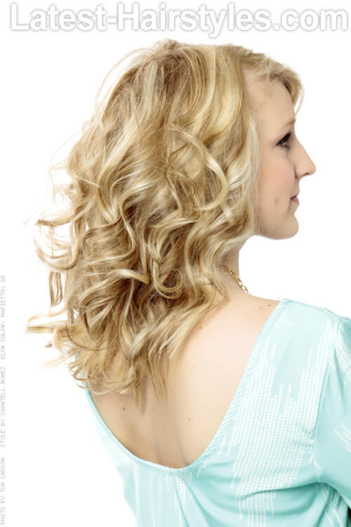 Curled Haircut with Volume Back