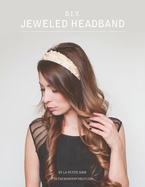 DIY Holiday Headband Hairstyle