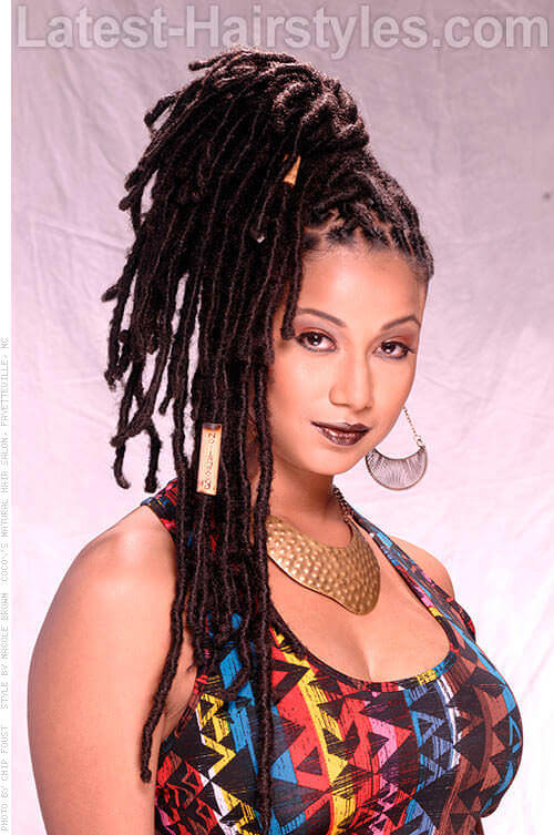 Dread Lock Lucy Updo For Black Women