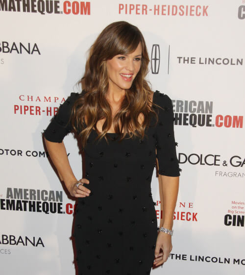 Jennifer Garner Haircut with Side Fringe Side