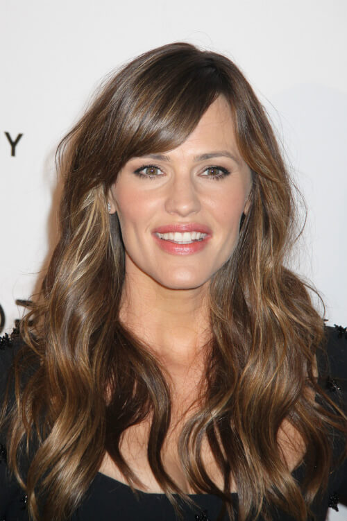 Jennifer Garner Haircut with Side Fringe