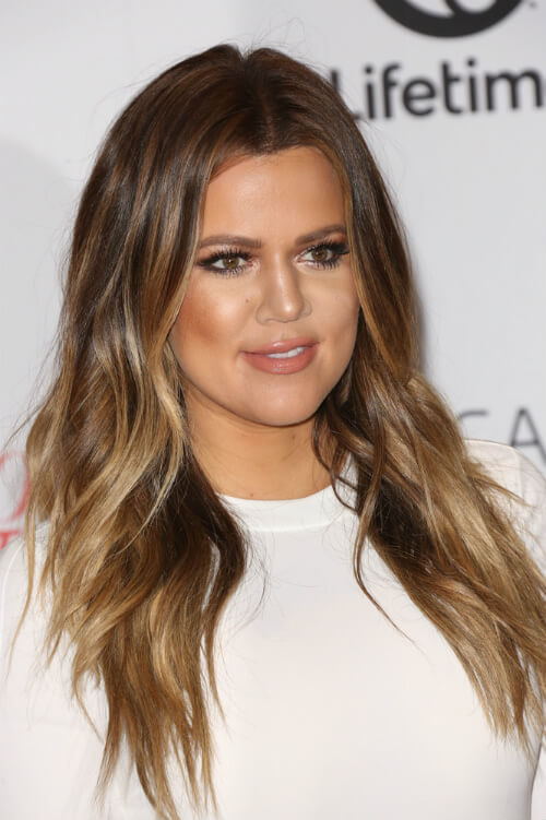 Kloe Kardashian Haircut with Layering